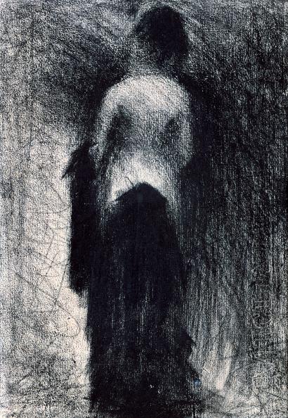 クレヨン「'Woman Seen from the Back', c1880-1891. Artist: Georges-Pierre Seurat」:写真・画像(10)[壁紙.com]