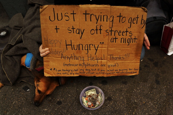 Homemade「Panhandlers' Placards Show Signs Of Continued Economic Hardship」:写真・画像(14)[壁紙.com]