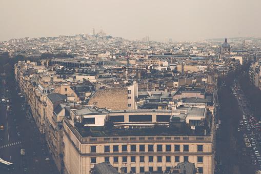 Arc de Triomphe - Paris「Paris cityscape from Arc de Triomphe」:スマホ壁紙(17)