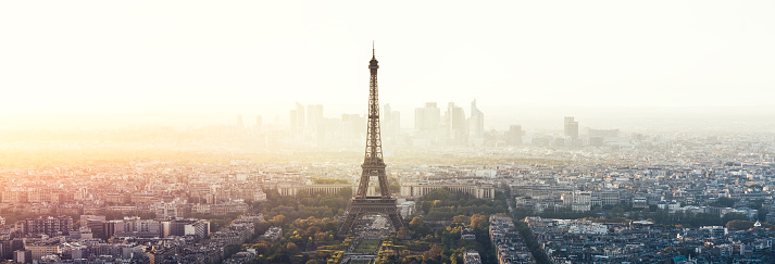 France「Paris Cityscape Panorama With Eiffel Tower」:スマホ壁紙(7)