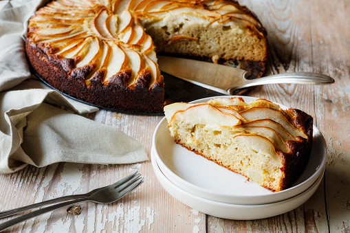 Buckwheat「Home-baked glutenfree pear pie made of buckwheat flour」:スマホ壁紙(10)