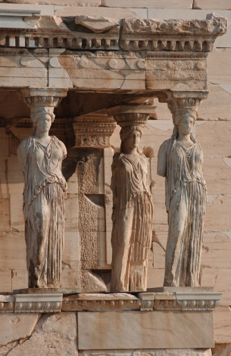 Figurine「Statues on an ancient historical building in Athens, Greece」:スマホ壁紙(18)