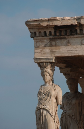 Figurine「Statues on an ancient historical building in Athens, Greece」:スマホ壁紙(19)