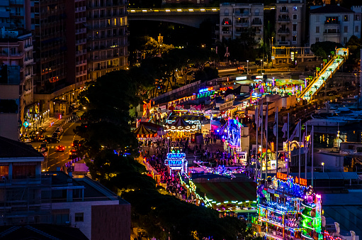 カーニバル「Monte Carlo at night Illuminated by Carnival Lights」:スマホ壁紙(3)