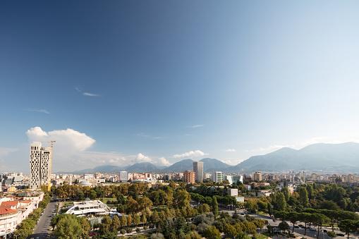 Albania「Tirana's downtown area with the tallest building in the city - The Plaza Tirana (85m), Albania, 2018」:スマホ壁紙(12)