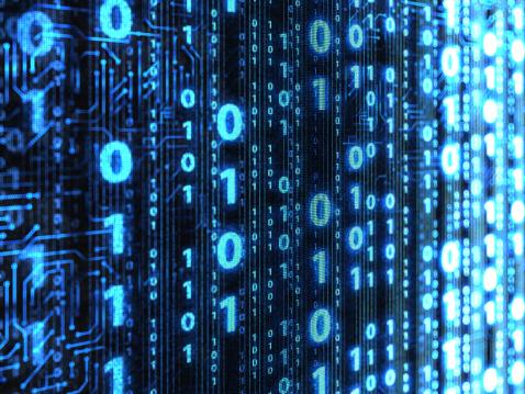 Computer Software「Binary code background」:スマホ壁紙(1)