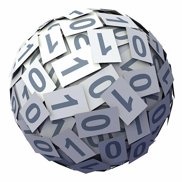 Binary Code ball:スマホ壁紙(壁紙.com)