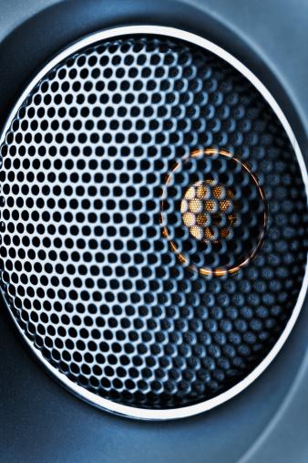 Audio Equipment「Blue tweeter with grid closeup」:スマホ壁紙(17)