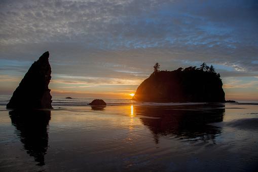 Cannon Beach「Sunset Cannon Beach, Oregon」:スマホ壁紙(7)