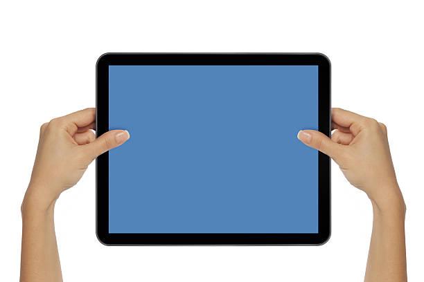 Holding Touch Screen Tablet:スマホ壁紙(壁紙.com)