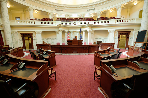 Politics「Senate Chamber Inside State Capitol Government Building, Boise, Idaho, USA」:スマホ壁紙(4)