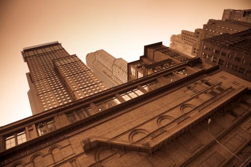 Sepia Toned「Carnegie Hall exterior in sepia」:スマホ壁紙(7)