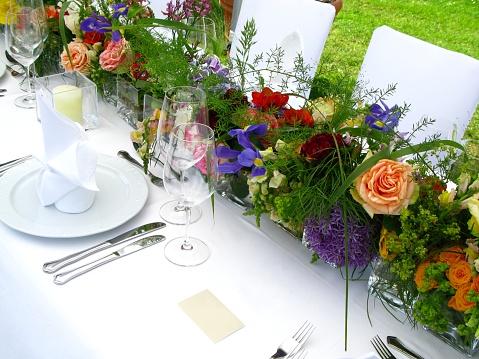 結婚「ウェディング用テーブルセッティング」:スマホ壁紙(17)