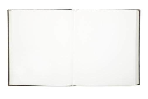 Template「Open empty white hardcover book」:スマホ壁紙(7)