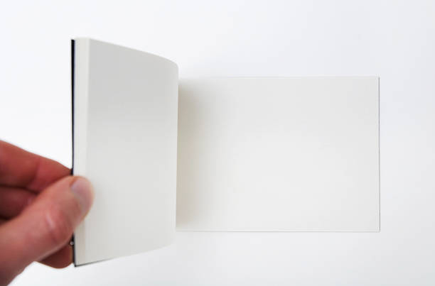 Open empty white book - Hand flipping pages.:スマホ壁紙(壁紙.com)