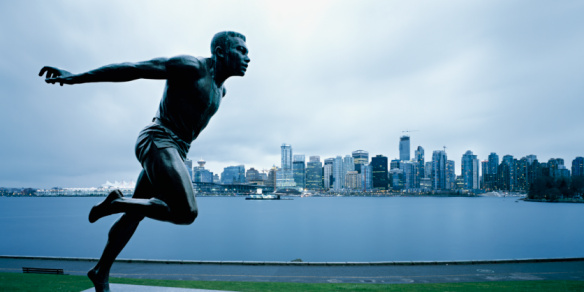Male Likeness「Harry Jerome Statue in front of Vancouver BC」:スマホ壁紙(7)