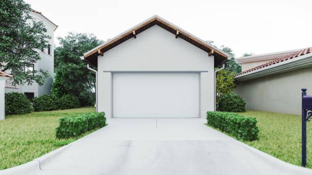 Luxury House Garage With Concrete Driveway:スマホ壁紙(壁紙.com)
