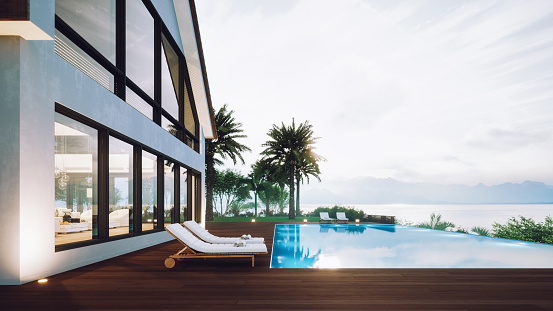 Sea「Luxury House With Infinity Pool」:スマホ壁紙(0)
