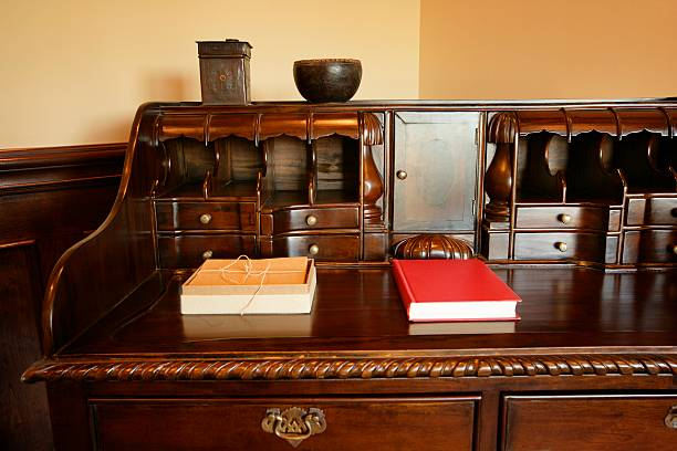 Antique desk :スマホ壁紙(壁紙.com)