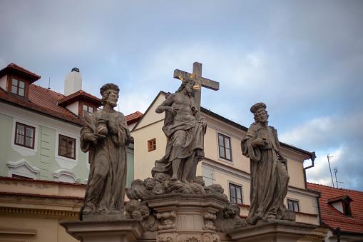 Charles Bridge「Jesus and saint statues on the Charles Bridge in Prague, Czech Republic」:スマホ壁紙(7)