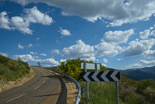 Camino De Santiago「Spain, The Way of St James, Castilian high plains, Highway at the way of St James」:スマホ壁紙(12)