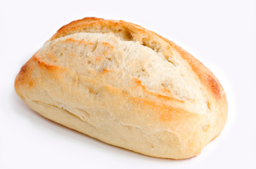 Loaf of Bread「A single piece of artisan bread against a white background」:スマホ壁紙(16)