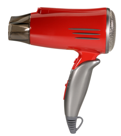 Push Button「Hair dryer with clipping path」:スマホ壁紙(1)