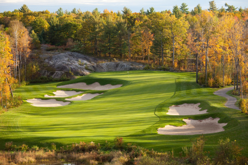 Sand Trap「Fall Golf Scenic of the Muskoka Region in Ontario」:スマホ壁紙(12)