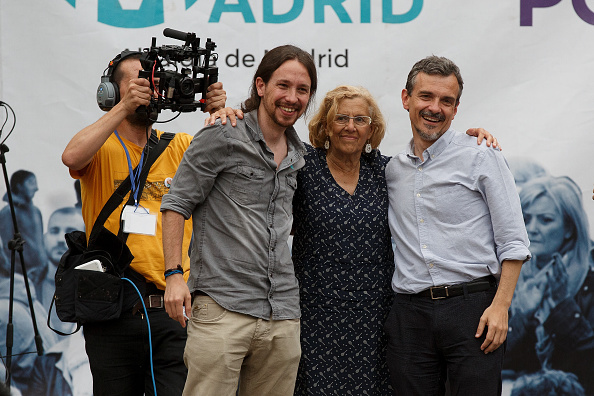 Jose Lopez「Pablo Iglesias Of Podemos Political Party Attends An Election Rally In Madrid」:写真・画像(15)[壁紙.com]