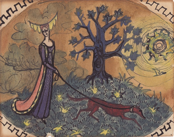 Space and Astronomy「Medieval Lady And Dog」:写真・画像(5)[壁紙.com]