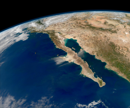 Baja California Peninsula「Oblique view of Baja California and the Pacific coast of Mexico.」:スマホ壁紙(4)