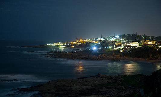 Wave「Ramsgate Beach at night, Ramsgate, KwaZulu-Natal, South Africa.」:スマホ壁紙(13)