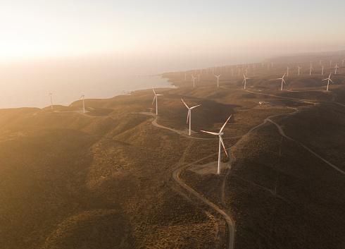 チリ共和国「group of wind turbines」:スマホ壁紙(19)