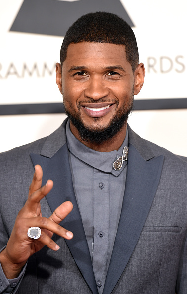 Usher - Singer「57th GRAMMY Awards - Arrivals」:写真・画像(2)[壁紙.com]