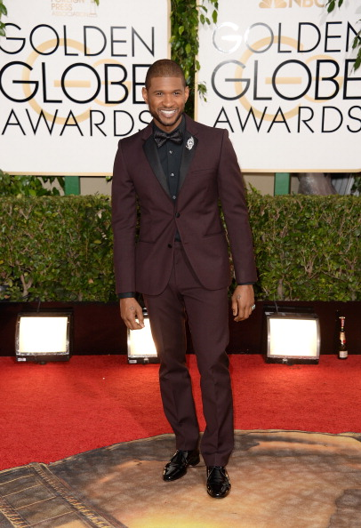 Usher - Singer「71st Annual Golden Globe Awards - Arrivals」:写真・画像(6)[壁紙.com]