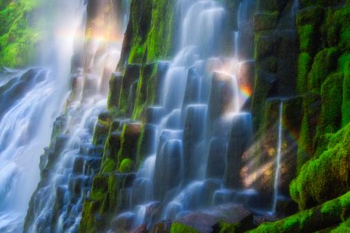 Willamette National Forest「Waterfall Rainbow」:スマホ壁紙(0)