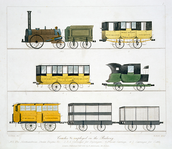 Railroad Car「Coaches Employed On The Liverpool And Manchester Railway 1831」:写真・画像(10)[壁紙.com]