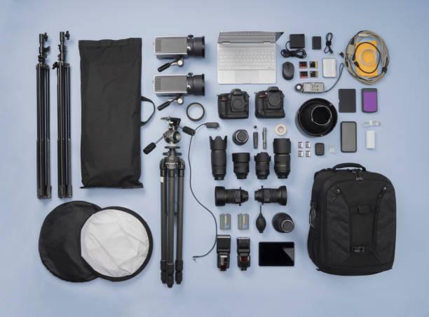 Photographic Equipment knolling style:スマホ壁紙(壁紙.com)