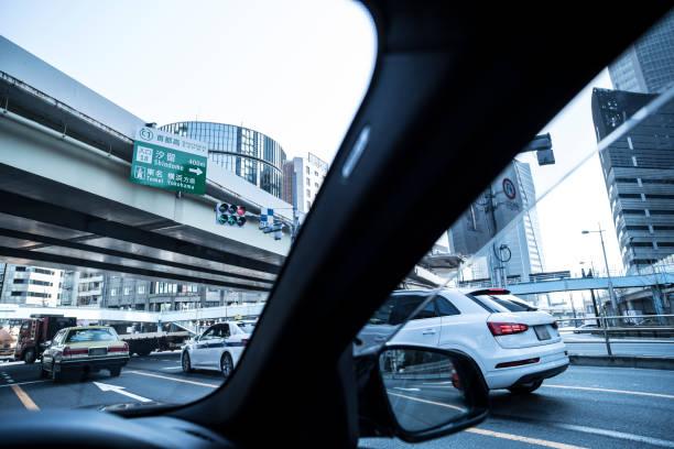 Downtown from inside the car.:スマホ壁紙(壁紙.com)