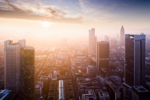 Rooftop「Downtown Frankfurt (sunset)」:スマホ壁紙(7)