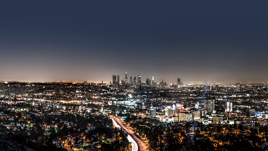 Travel Destinations「LA downtown from Mulholland at night」:スマホ壁紙(6)