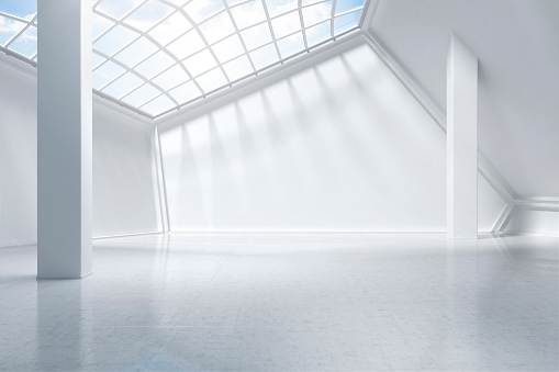 Indoors「white museum digitally generated.」:スマホ壁紙(2)