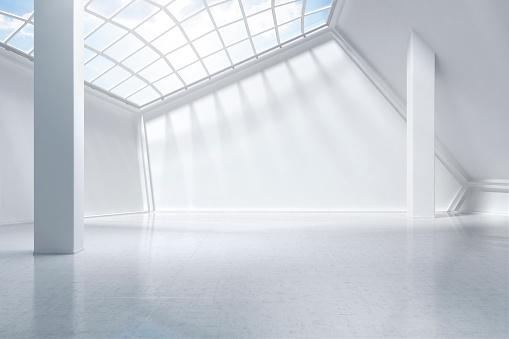 Futuristic「white museum digitally generated.」:スマホ壁紙(9)