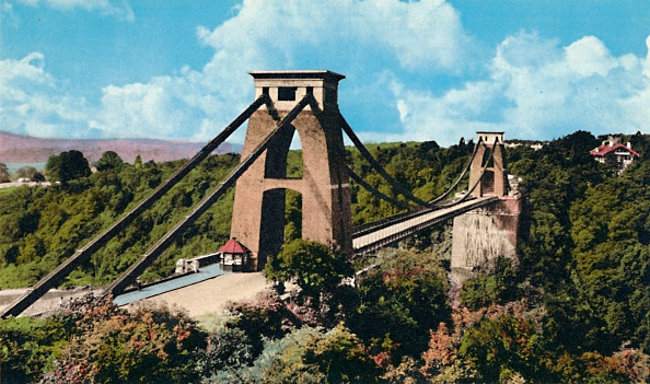 Post - Structure「Clifton Suspension Bridge From The Observatory Circa 1940s」:写真・画像(17)[壁紙.com]