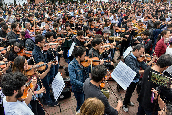 Musical instrument「Seventh Day Of Protests Against President Duque」:写真・画像(1)[壁紙.com]