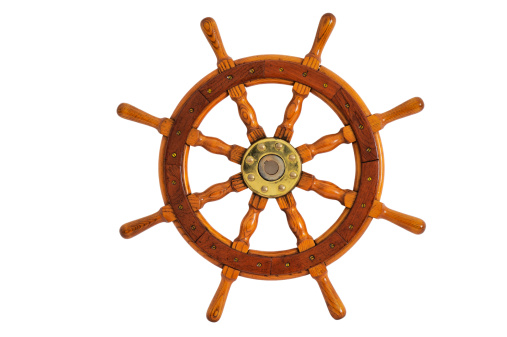 Nautical Vessel「Old Steering Wheel」:スマホ壁紙(0)
