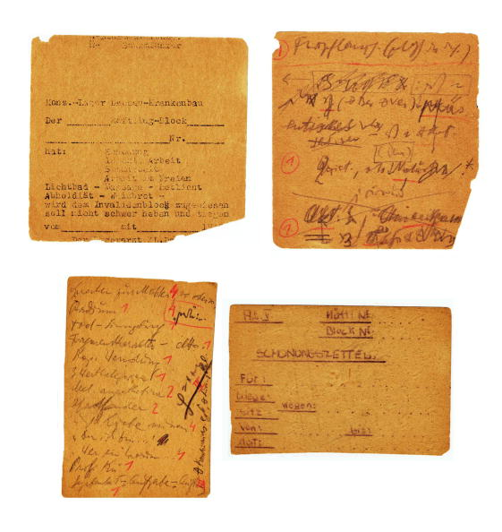 "Paperwork「Forms stolen from the office of the Dachau concentration camp on the reverse side Frankl's notes to reconstruct the manuscript of ""The Doctor and the Soul"", 1945」:写真・画像(14)[壁紙.com]"