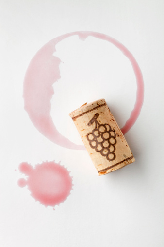 Wine Bottle「Cork and red wine stain」:スマホ壁紙(5)