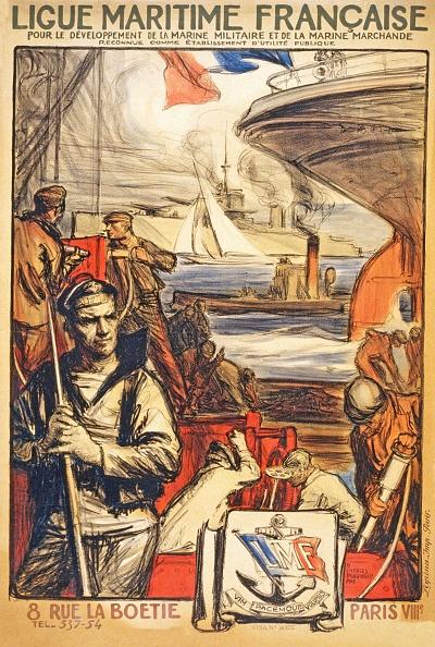 Chromolithograph「Poster To Raise Awareness Of 'Ligue Maritime Franciase」:写真・画像(9)[壁紙.com]