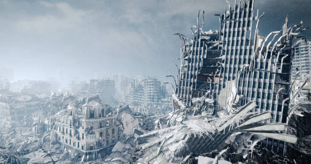 Nuclear Winter Urban Landscape:スマホ壁紙(壁紙.com)